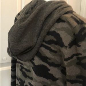 Rachel Zoe camo hooded sweater